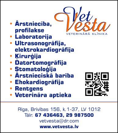 """""""Vetvesta"""", SIA, Veterinārā klīnika reklāma Latvijas pašvaldību amatpersonu un politiķu kontaktinformācijas katalogā"""