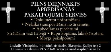 Vicinskis I., individuālā darba veicējs reklāma Rīgas domes amatpersonu un politiķu kontaktinformācijas katalogā