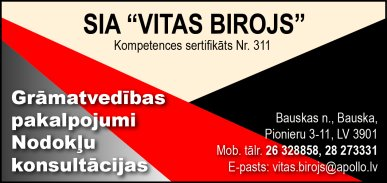"""""""Vitas birojs"""", SIA reklāma Rīgas domes amatpersonu un politiķu kontaktinformācijas katalogā"""