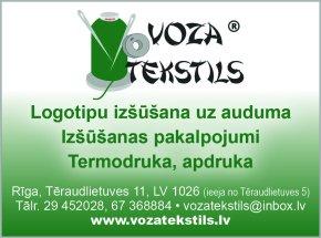 """""""Voza tekstils"""", SIA reklāma Rīgas domes amatpersonu un politiķu kontaktinformācijas katalogā"""