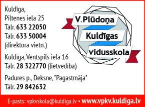 V. Plūdoņa Kuldīgas vidusskola reklāma Rīgas domes amatpersonu un politiķu kontaktinformācijas katalogā