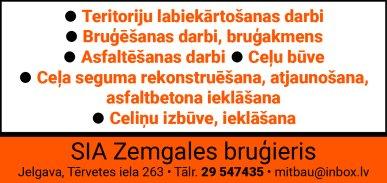 """""""Zemgales bruģieris"""", SIA reklāma Rīgas domes amatpersonu un politiķu kontaktinformācijas katalogā"""