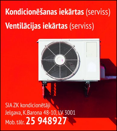 """""""ZK kondicionētāji"""", SIA reklāma Latvijas pašvaldību amatpersonu un politiķu kontaktinformācijas katalogā"""