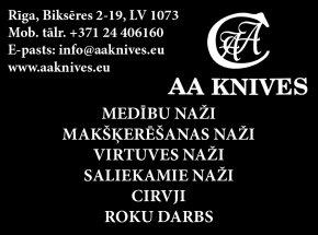 """""""AA KNIVES"""" reklāma Rīgas domes amatpersonu un politiķu kontaktinformācijas katalogā"""