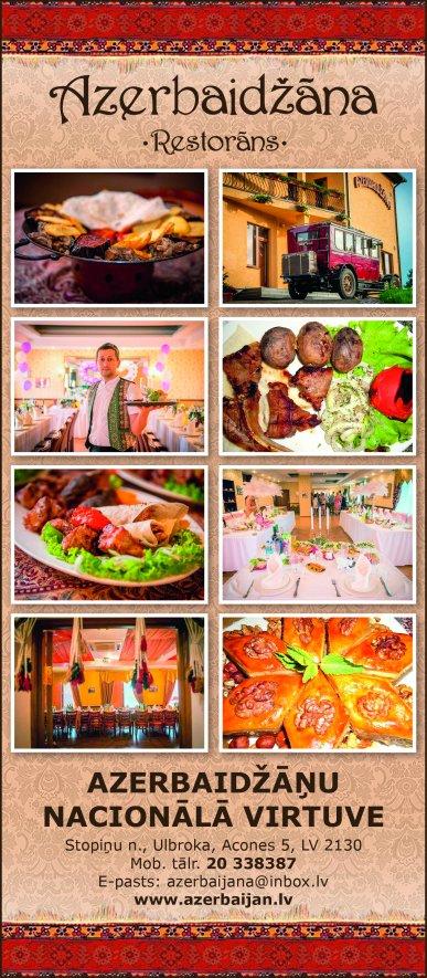 """""""Azerbaidžāna"""", restorāns reklāma Rīgas domes amatpersonu un politiķu kontaktinformācijas katalogā"""