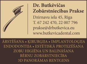 """""""Dr. Butkēvičas zobārstniecības prakse"""", SIA reklāma Rīgas domes amatpersonu un politiķu kontaktinformācijas katalogā"""