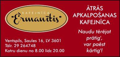 """""""Ērmanītis"""", kafejnīca reklāma Rīgas domes amatpersonu un politiķu kontaktinformācijas katalogā"""