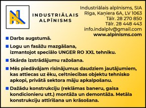 """""""Industriālais alpīnisms"""", SIA reklāma Rīgas domes amatpersonu un politiķu kontaktinformācijas katalogā"""