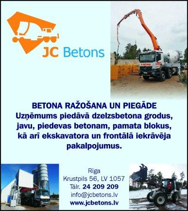 """""""JC betons"""", SIA reklāma Rīgas domes amatpersonu un politiķu kontaktinformācijas katalogā"""