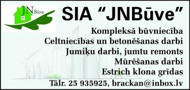 """""""JNbūve"""", SIA reklāma Rīgas domes amatpersonu un politiķu kontaktinformācijas katalogā"""
