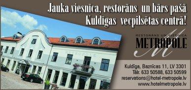"""""""Kuldīgas metropole"""", viesnīca reklāma Rīgas domes amatpersonu un politiķu kontaktinformācijas katalogā"""