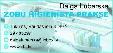 Lubarskas D. zobu higiēnistes prakse reklāma Rīgas domes amatpersonu un politiķu kontaktinformācijas katalogā