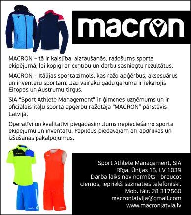 """""""Sport Athlete Management"""", SIA reklāma Latvijas pašvaldību amatpersonu un politiķu kontaktinformācijas katalogā"""