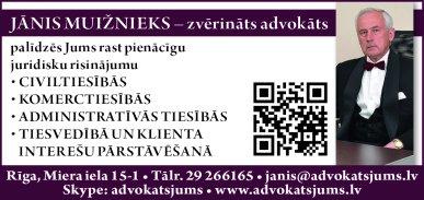 Muižnieks J., zvērināts advokāts reklāma Rīgas domes amatpersonu un politiķu kontaktinformācijas katalogā