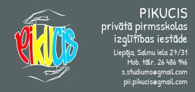 """""""Pikucis"""", privātā pirmsskolas izglītības iestāde reklāma Rīgas domes amatpersonu un politiķu kontaktinformācijas katalogā"""