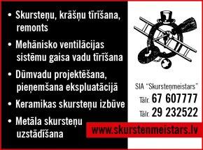 """""""Skursteņmeistars"""", SIA reklāma Rīgas domes amatpersonu un politiķu kontaktinformācijas katalogā"""