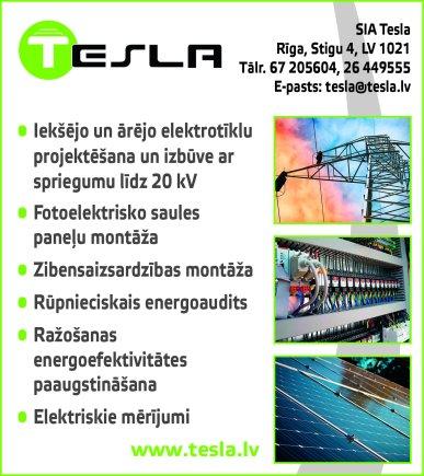 """""""Tesla"""", SIA reklāma Rīgas domes amatpersonu un politiķu kontaktinformācijas katalogā"""