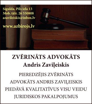 Zaviļeiskis A., zvērināts advokāts reklāma Rīgas domes amatpersonu un politiķu kontaktinformācijas katalogā