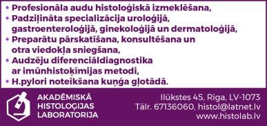 """""""Akadēmiskā histoloģijas laboratorija"""", SIA reklāma Rīgas domes amatpersonu un politiķu kontaktinformācijas katalogā"""