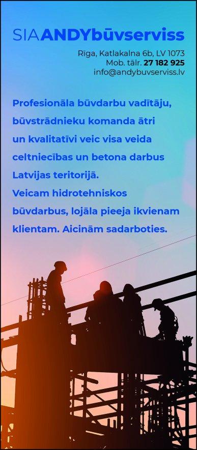 """""""ANDYbūvserviss"""", SIA reklāma Rīgas domes amatpersonu un politiķu kontaktinformācijas katalogā"""