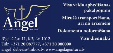 """""""Angel debesīs"""", SIA reklāma Rīgas domes amatpersonu un politiķu kontaktinformācijas katalogā"""