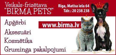 """""""Birma Pets"""", SIA reklāma Rīgas domes amatpersonu un politiķu kontaktinformācijas katalogā"""
