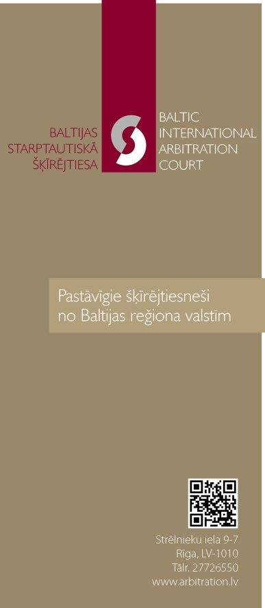 """""""Baltic International Arbitration Court"""", biedrība reklāma Rīgas domes amatpersonu un politiķu kontaktinformācijas katalogā"""