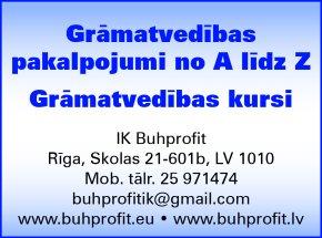 """""""Buhprofit"""", IK reklāma Rīgas domes amatpersonu un politiķu kontaktinformācijas katalogā"""