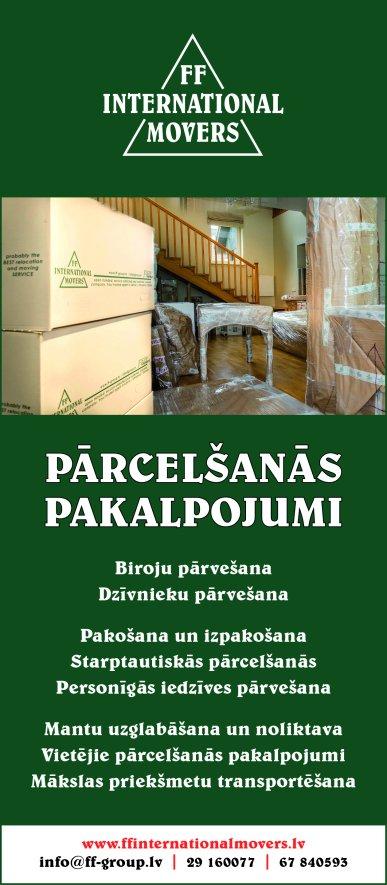 """""""FF International Movers"""", SIA reklāma Rīgas domes amatpersonu un politiķu kontaktinformācijas katalogā"""