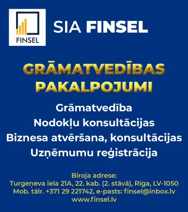 """""""Finsel"""", SIA reklāma Rīgas domes amatpersonu un politiķu kontaktinformācijas katalogā"""