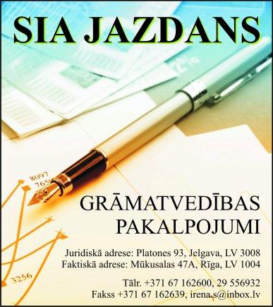 """""""Jazdans"""", SIA reklāma Rīgas domes amatpersonu un politiķu kontaktinformācijas katalogā"""