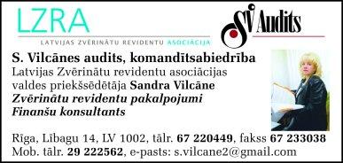 """""""S. Vilcānes audits"""", komandītsabiedrība reklāma Rīgas domes amatpersonu un politiķu kontaktinformācijas katalogā"""