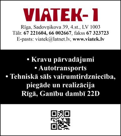 """""""Viatek 1"""", SIA reklāma Rīgas domes amatpersonu un politiķu kontaktinformācijas katalogā"""