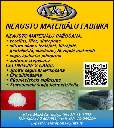 """""""A & A"""", SIA reklāma Saeimas un Valdības amatpersonu un politiķu kontaktinformācijas katalogā"""