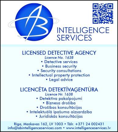 """""""AB Intelligence Services"""", SIA reklāma Saeimas un Valdības amatpersonu un politiķu kontaktinformācijas katalogā"""