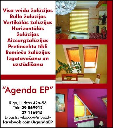 """""""Agenda EP"""", IK reklāma Saeimas un Valdības amatpersonu un politiķu kontaktinformācijas katalogā"""