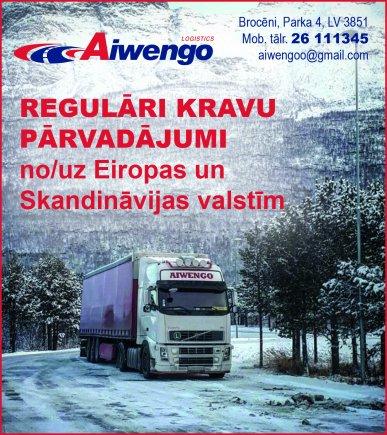 """""""Aiwengo Logistics"""", SIA reklāma Saeimas un Valdības amatpersonu un politiķu kontaktinformācijas katalogā"""