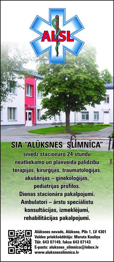 """""""Alūksnes slimnīca"""", SIA reklāma Saeimas un Valdības amatpersonu un politiķu kontaktinformācijas katalogā"""