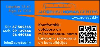"""""""Autobusu nomas centrs"""", SIA reklāma Saeimas un Valdības amatpersonu un politiķu kontaktinformācijas katalogā"""