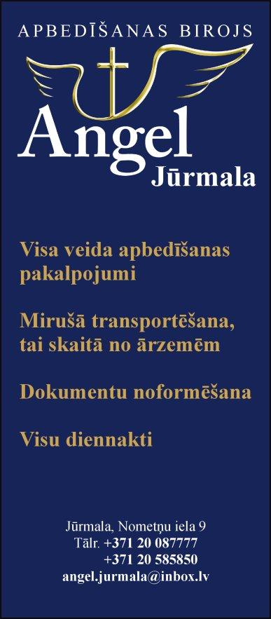 """""""Apbedīšanas birojs Angel Jūrmala"""", SIA reklāma Saeimas un Valdības amatpersonu un politiķu kontaktinformācijas katalogā"""