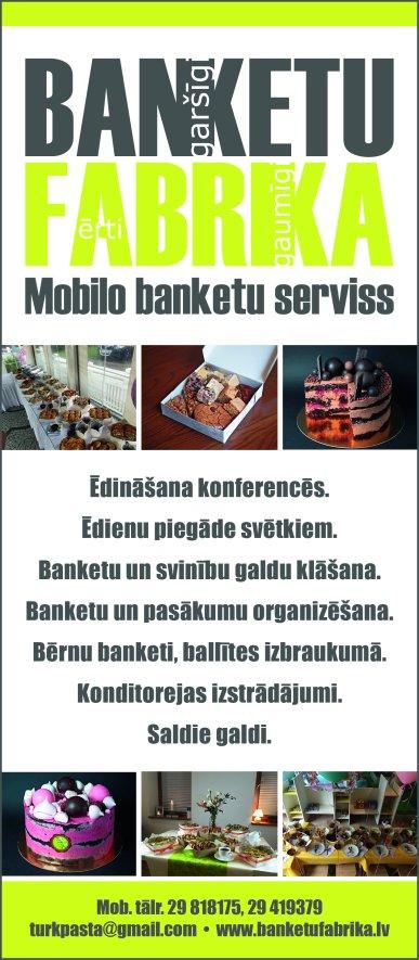 """""""Banketu fabrika"""", SIA reklāma Saeimas un Valdības amatpersonu un politiķu kontaktinformācijas katalogā"""
