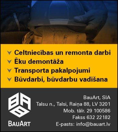 """""""BauArt"""", SIA reklāma Saeimas un Valdības amatpersonu un politiķu kontaktinformācijas katalogā"""