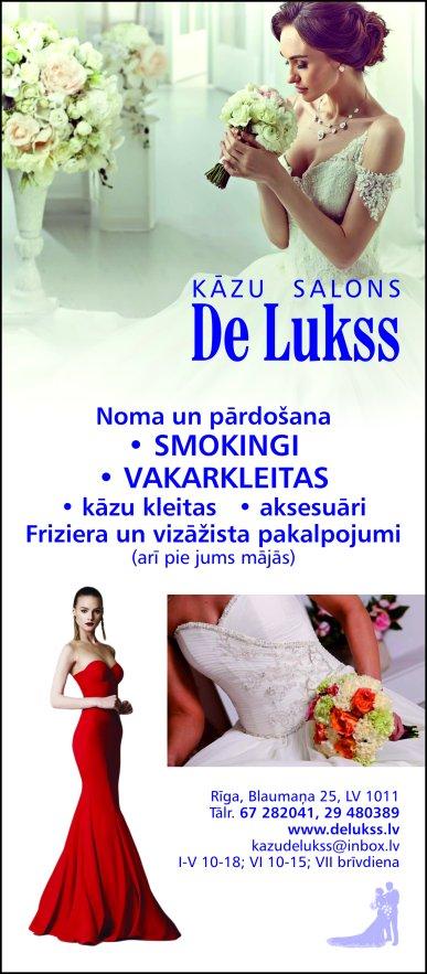 """""""De Lukss"""", SIA, Kāzu  salons reklāma Saeimas un Valdības amatpersonu un politiķu kontaktinformācijas katalogā"""