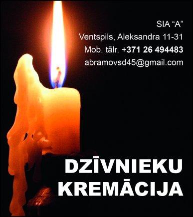 """""""A"""", SIA, Dzīvnieku kremācija reklāma Saeimas un Valdības amatpersonu un politiķu kontaktinformācijas katalogā"""