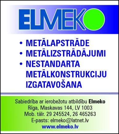 """""""Elmeko"""", SIA reklāma Saeimas un Valdības amatpersonu un politiķu kontaktinformācijas katalogā"""