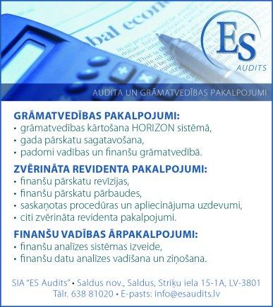 """""""ES Audits"""", SIA reklāma Saeimas un Valdības amatpersonu un politiķu kontaktinformācijas katalogā"""
