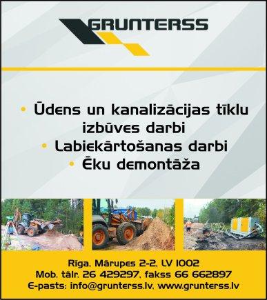 """""""Grunterss"""", SIA reklāma Saeimas un Valdības amatpersonu un politiķu kontaktinformācijas katalogā"""