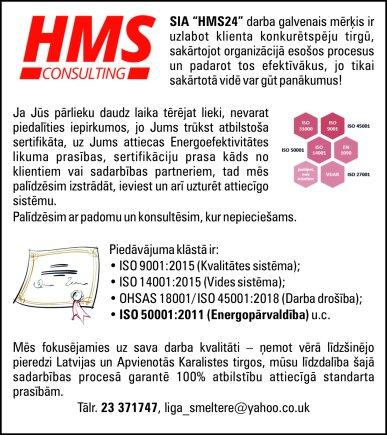 """""""HMS24"""", SIA reklāma Saeimas un Valdības amatpersonu un politiķu kontaktinformācijas katalogā"""