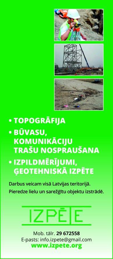 """""""Izpēte"""", SIA reklāma Saeimas un Valdības amatpersonu un politiķu kontaktinformācijas katalogā"""