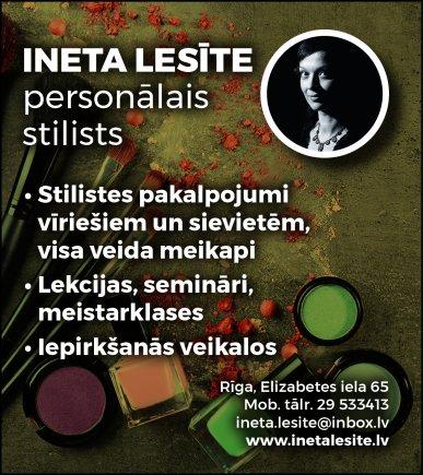 Lesīte I., stiliste reklāma Saeimas un Valdības amatpersonu un politiķu kontaktinformācijas katalogā